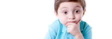 Real People: Thinking Caucasian Little Boy Questioning Wonder